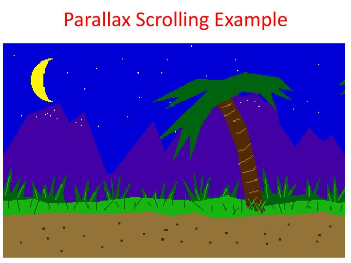 Parallax Scrolling Example