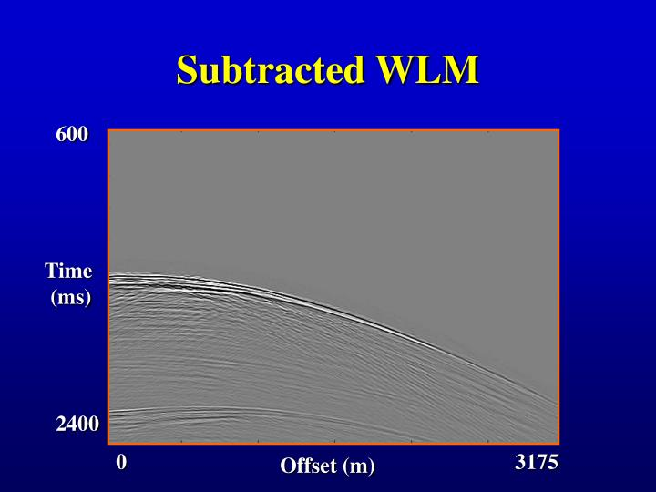 Subtracted WLM