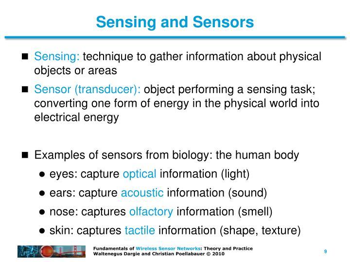 Sensing and Sensors