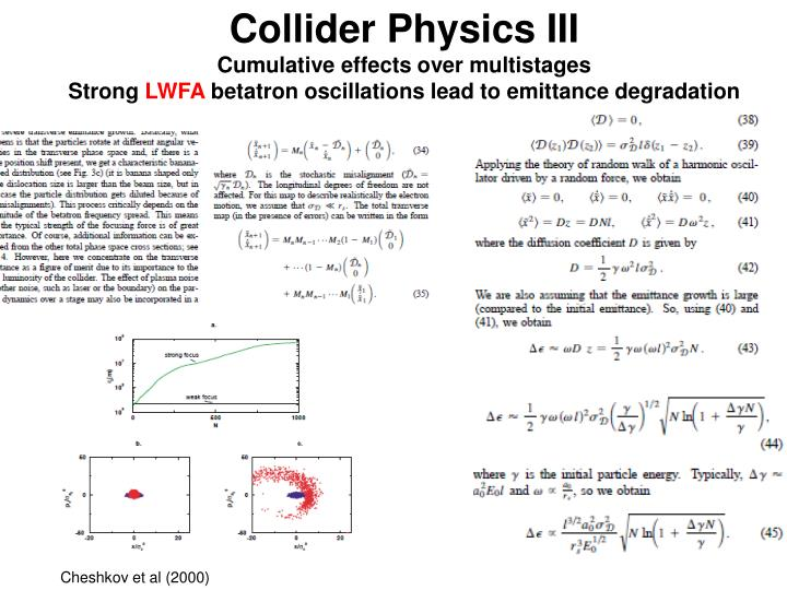 Collider Physics III