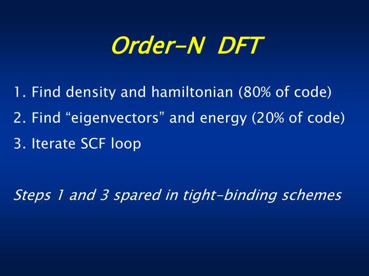 Order-N  DFT