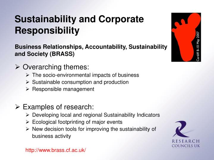 Sustainability and Corporate Responsibility