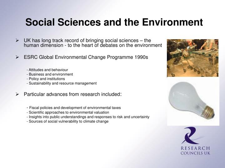 Social Sciences and the Environment