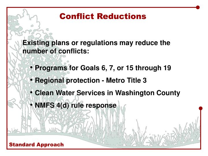 Conflict Reductions