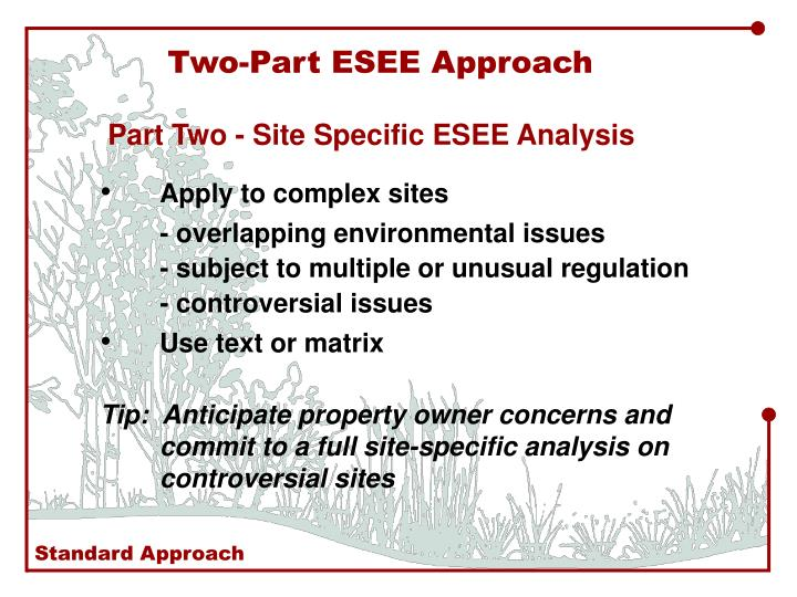 Two-Part ESEE Approach