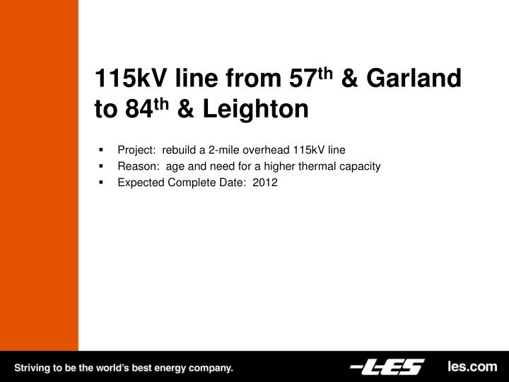 115kV line from 57