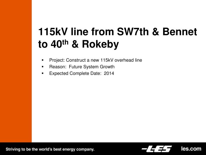 115kV line from SW7th &