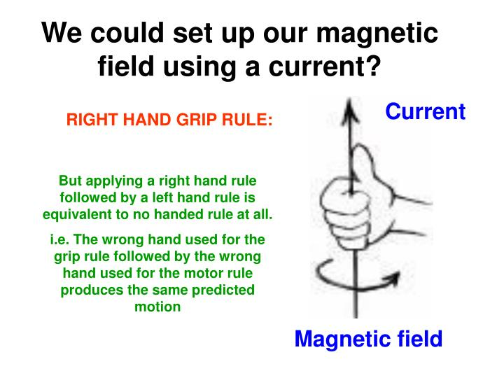 We could set up our magnetic