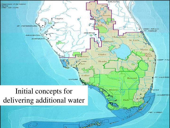 Initial concepts for delivering additional water