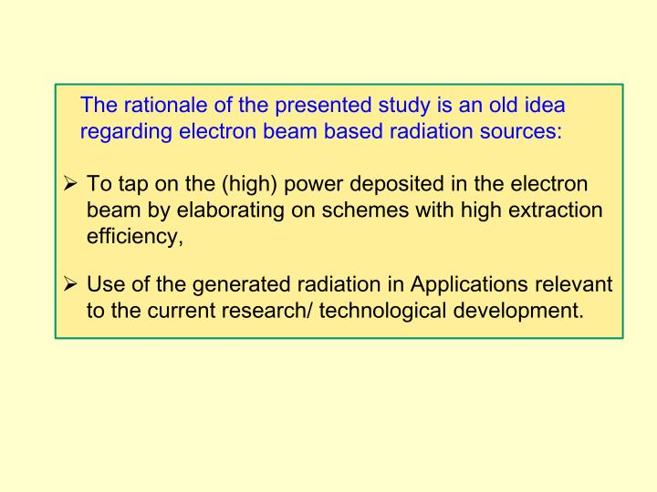 The rationale of the presented study is an old idea