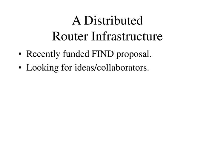 A Distributed