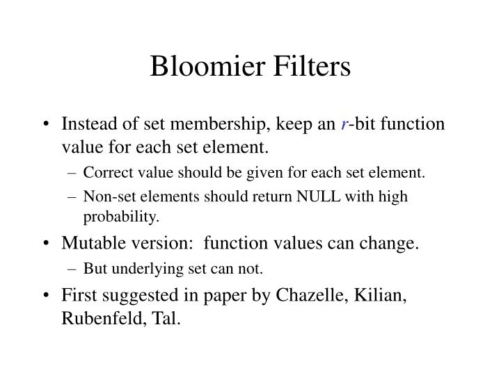 Bloomier Filters