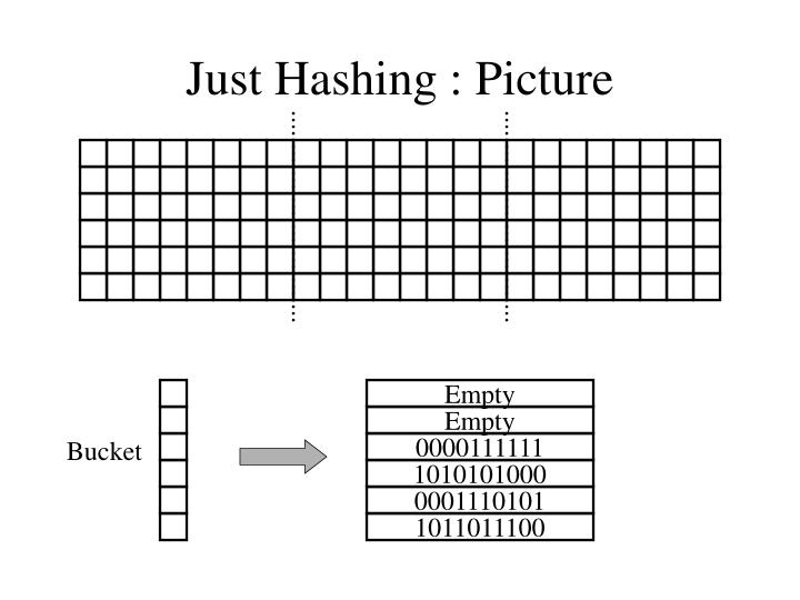 Just Hashing : Picture