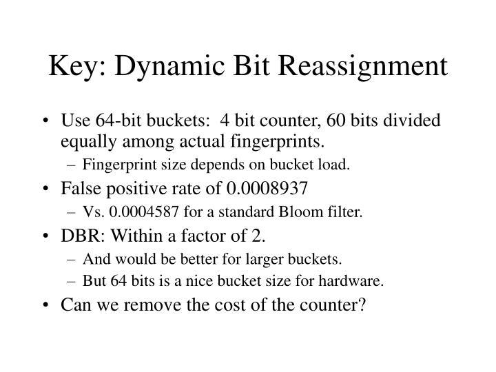 Key: Dynamic Bit Reassignment