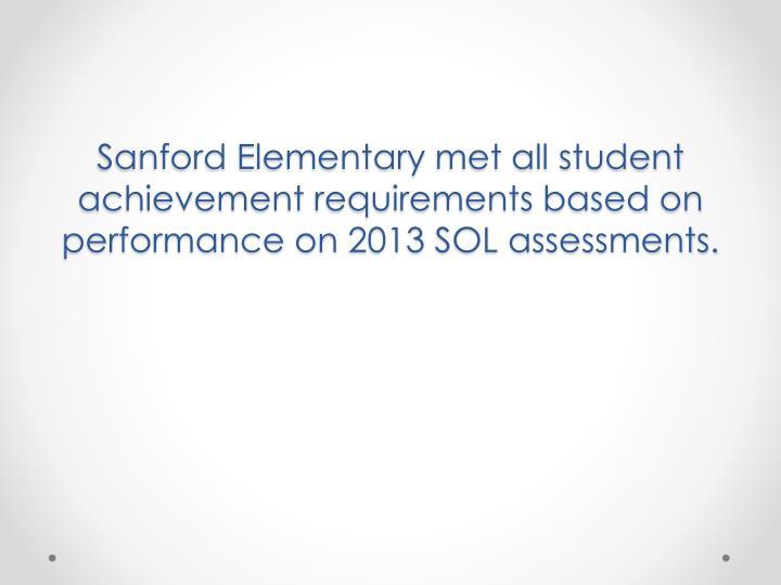 Sanford Elementary