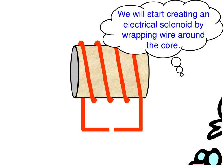 We will start creating an electrical solenoid by wrapping wire around