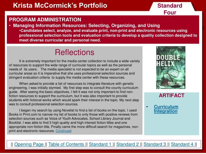 Krista McCormick's Portfolio