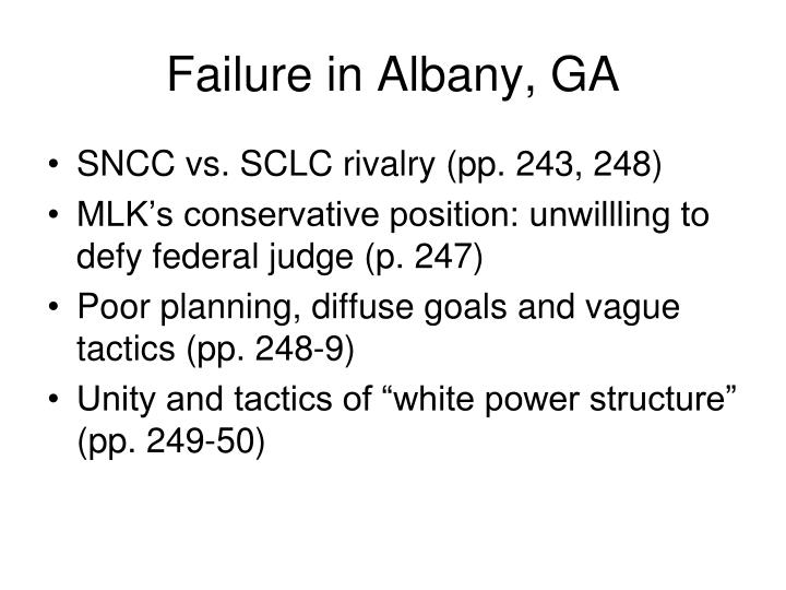Failure in Albany, GA
