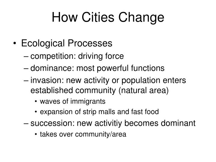 How Cities Change