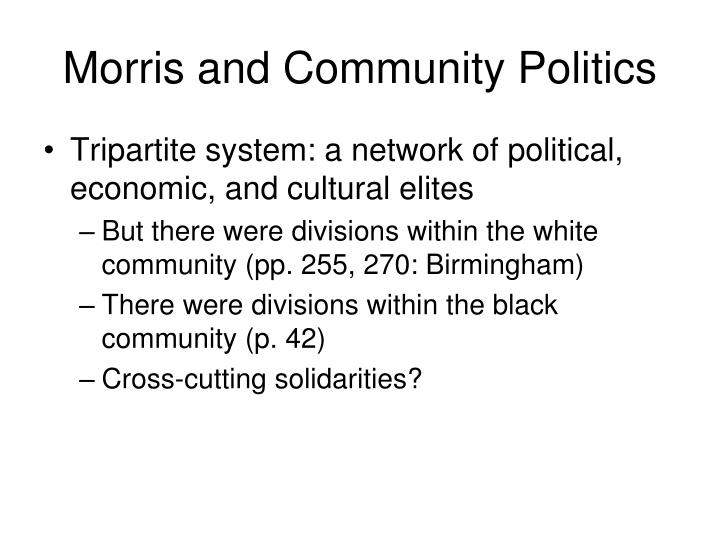 Morris and Community Politics