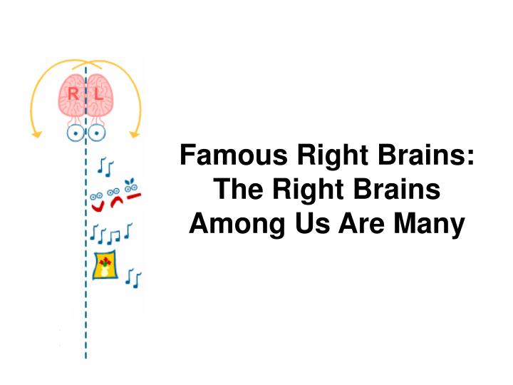 Famous Right Brains: