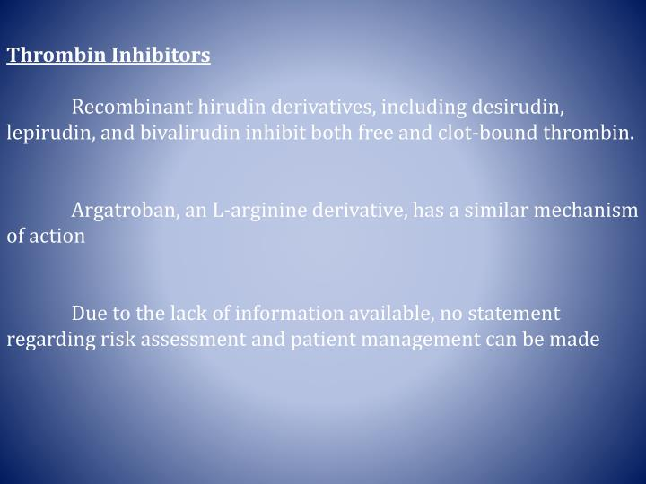 Thrombin Inhibitors