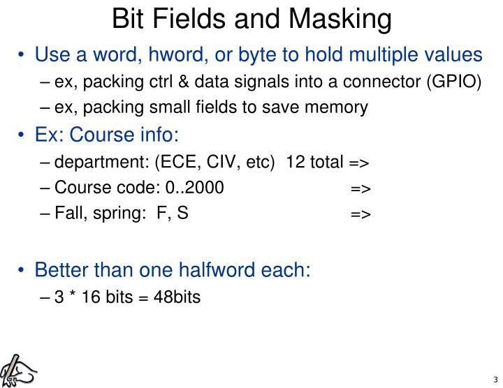 Bit Fields and Masking
