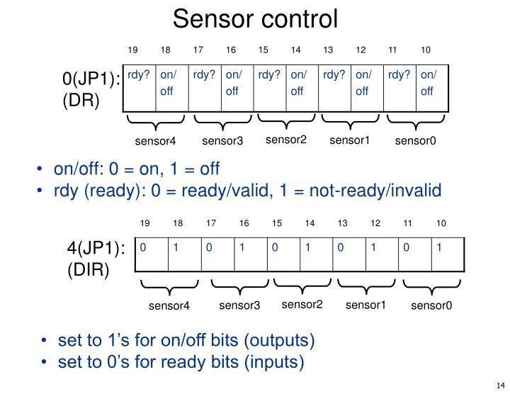 Sensor control