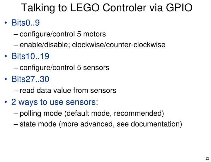 Talking to LEGO Controler via GPIO