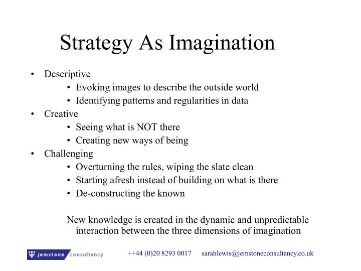 Strategy As Imagination