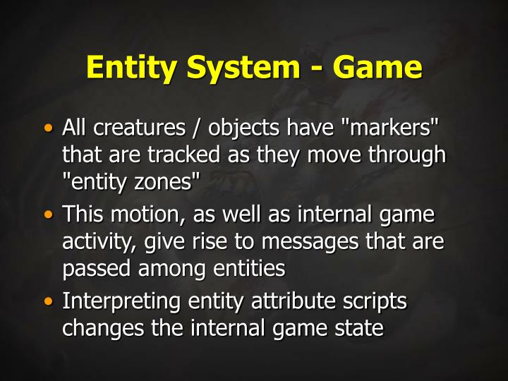 Entity System - Game