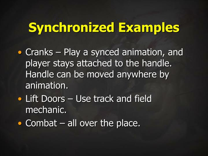Synchronized Examples