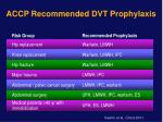 accp recommended dvt prophylaxis