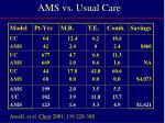 ams vs usual care