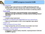 lmwg progress towards clm42