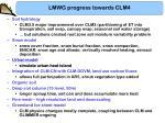 lmwg progress towards clm43