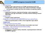 lmwg progress towards clm45