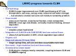 lmwg progress towards clm46