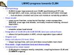lmwg progress towards clm47
