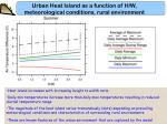 urban heat island as a function of h w meteorological conditions rural environment