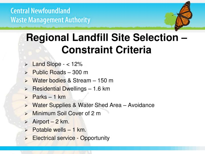 Regional Landfill Site Selection –