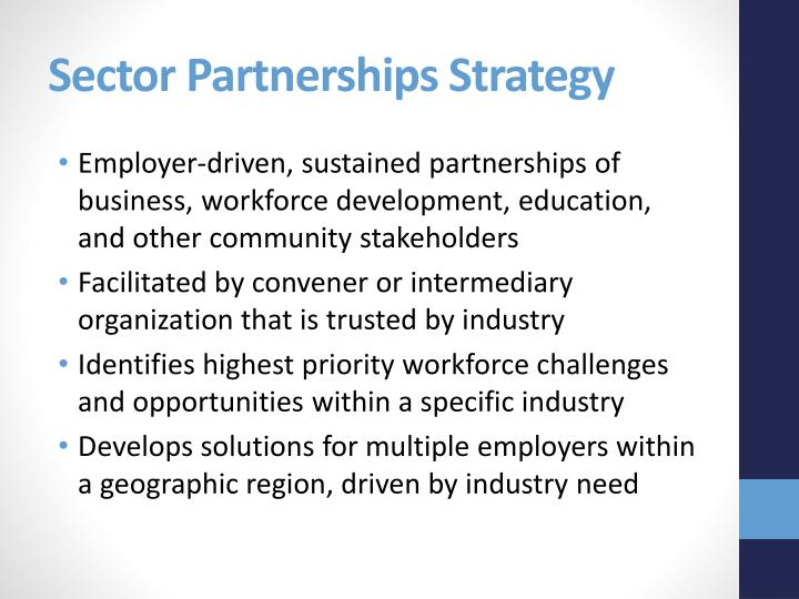 Sector Partnerships Strategy