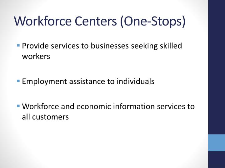 Workforce Centers (One-Stops)