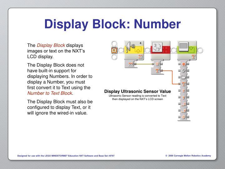 Display Block: Number