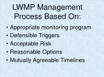 lwmp management process based on