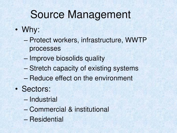Source Management