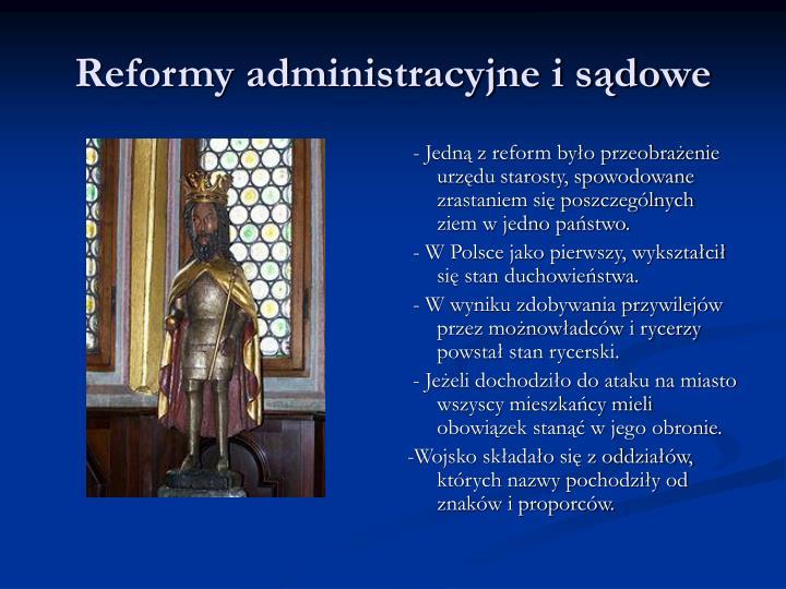 Reformy administracyjne i sądowe