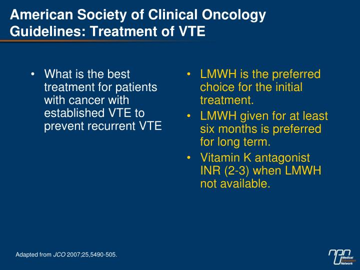 What is the best treatment for patients with cancer with established VTE to prevent recurrent VTE