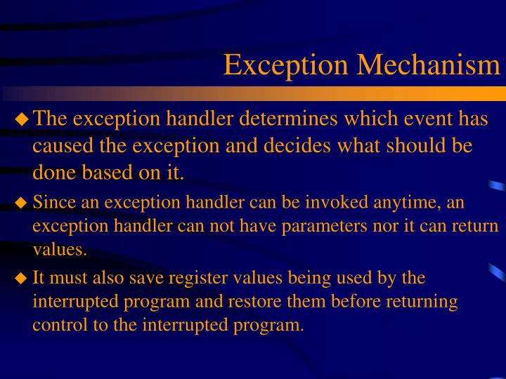 Exception Mechanism