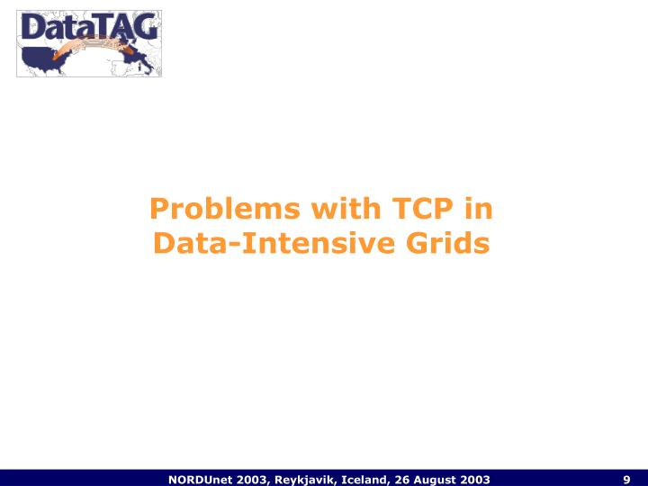 Problems with TCP in